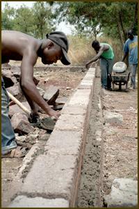 bouwen van de eerste lokalen