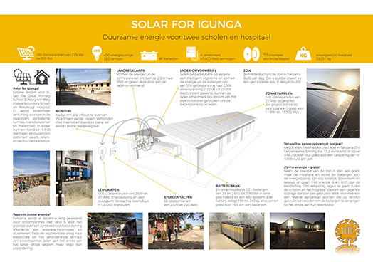 Solar for Igunga - Duurzame energie voor twee scholen en hospitaal