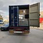 Container rempli, prêt à partir pour le port d'Anvers.