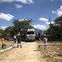 Arrivée du camion avec container à Igunga.