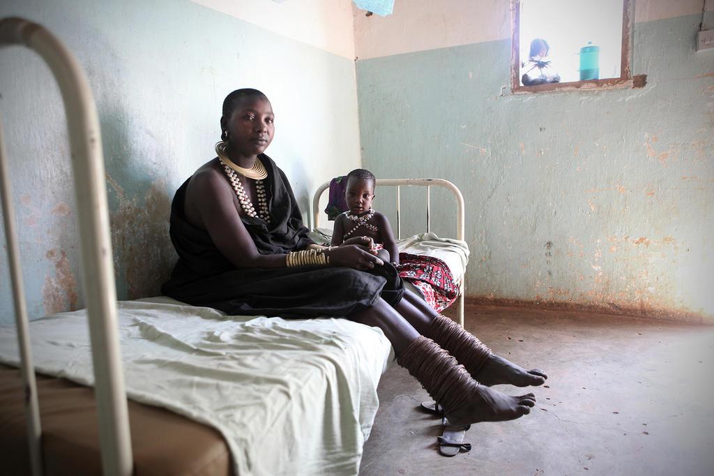 Infirmerie à l'hôpital de Mwanzugi