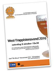Achtste West-Trappistenavond op 8 oktober